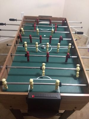 MD Sports 48 inch three-in-one combo game table includes billiards, slide hockey and soccer for Sale in Germantown, MD
