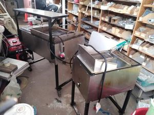 Taco stand girll and deep fryer two tents and lights for Sale in Los Angeles, CA