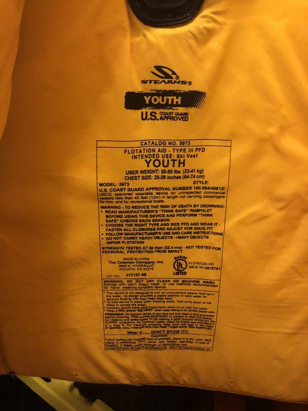 Youth life jacket