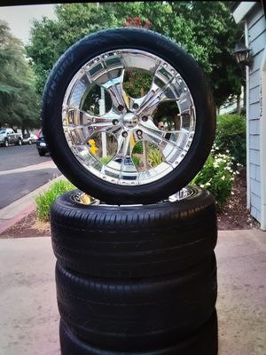 Clean 22's Panther Rims 6 Lug for Sale in Clovis, CA