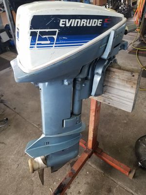 15hp evinrude outboard for Sale in Longwood, FL