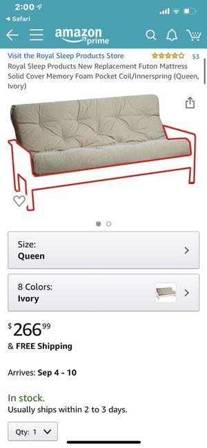 Queen futon mattress for Sale in Murfreesboro, TN