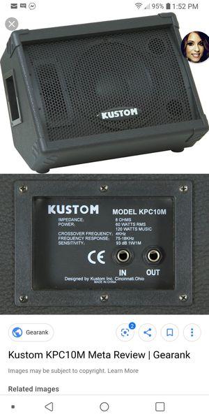 4 Kustom pa speakers work well for Sale in Gillett, PA