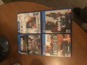 PlayStation 4 games up for grabs in need 40 for all 4 games hit me if your interested serious buyers only. for Sale in Farmington Hills, MI