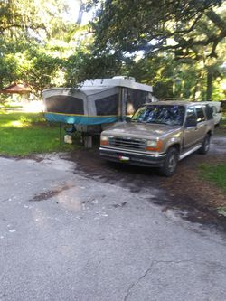 2003 Coleman pop-up camper and 93 Ford explorer for Sale in Riverview,  FL