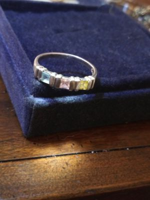 Genuine multi-stone silver ring for Sale in Akron, OH