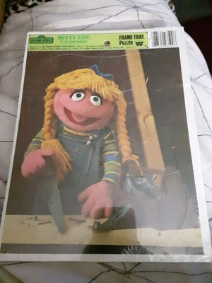 "Authentic Vintage 1981 Jim Henson Sesame Street Muppets ""Betty-Lou, Carpenter"" Frame-Tray Puzzle- Still In Plastic/ Never Opened for Sale in Phoenix, AZ"