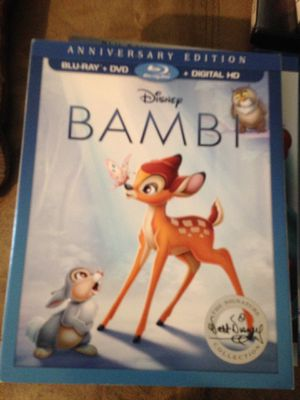 Disney's Bambi Blueray DVD and Digital for Sale in Houston, TX