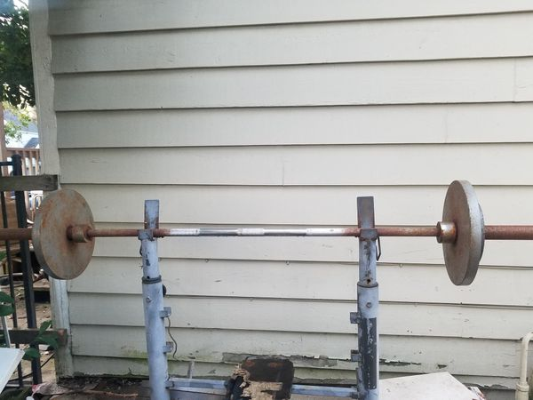 45 pound Olympic bar (no weights included)