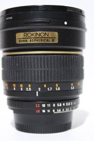 Rokinon 85mm f/1.4 AS IF Lens for Nikon Digital and full frame SLR Cameras for Sale in Oakland, CA