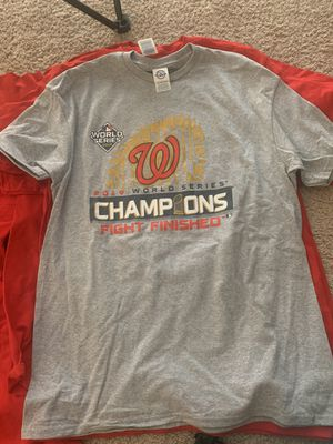 It's not to late get you nationals championship t-shirts all sizes and colors red, gray, navy 1 for $15 2 for $25 for Sale in Washington, DC