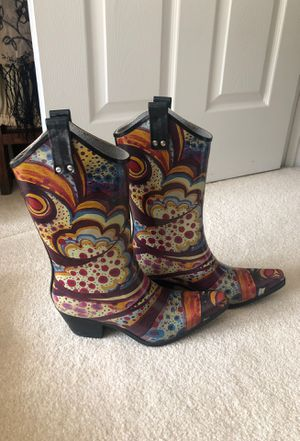Nomad cowgirl style rain boots for Sale in McMurray, PA