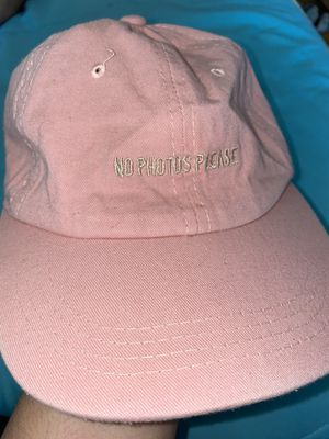"""PINK """"NO PHOTOS PLEASE"""" ADJUSTABLE HAT for Sale in San Diego, CA"""