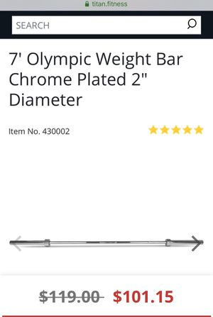 Titan Olympic, weightlifting, CrossFit and Powerlifting Barbell for Sale in San Diego, CA