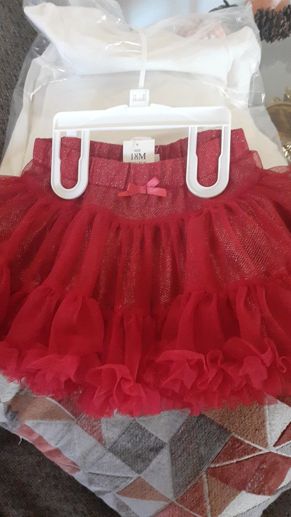Cat and jack onesie and tutu skirt 18 months