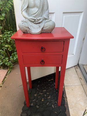 Red side table with two drawers- PICK UP ONLY for Sale in Miami, FL