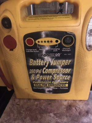 Battery jumper with compressor. for Sale in Piedmont, SC