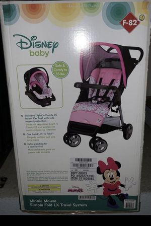 New Minnie travel system car seat and stroller for Sale in March Air Reserve Base, CA