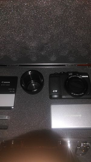 Canon PowerShot G16 digital camera with extras for Sale in Concord, CA
