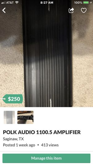 POLK AUDIO AMP for Sale in Fort Worth, TX