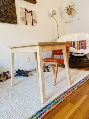 Kids Wooden Table | Kids Desk | Kids Chairs | Woven Chairs | Wooden Chairs for Sale in Queens, NY