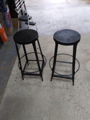 2 metal bar stools for Sale in Carrollton, TX