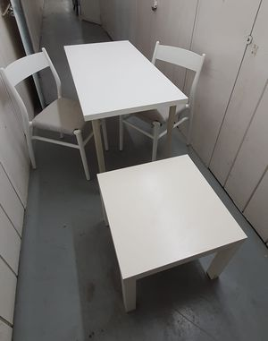 Ikea table and 2 chairs + lack table for Sale in Corona, CA