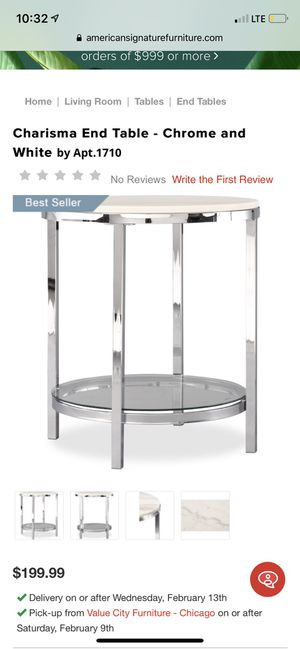 Set of 2 marble nightstands or end tables for Sale in Chicago, IL