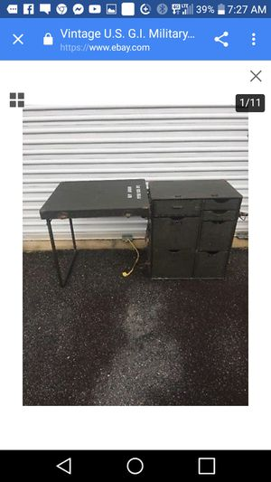 Army field travel desk for sale $300 firm. Missing 1 small drawer. Similar desks go for $1000.00s see photos 24. Call Amanda at {contact info removed} for Sale in Prattville, AL