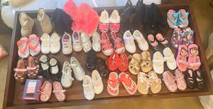Girls infant - 30 pair toddler boots shoes sandals $30 for Sale in Arlington, TX