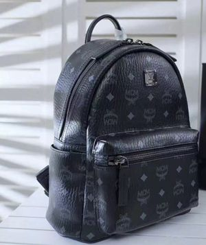 MCM black leather bookbag for Sale in Queens, NY