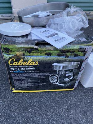 Cabela's Carnivore comercial grade 1 HP No. 22 meat grinder for Sale in Atlanta, GA
