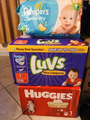 Diapers size 1 for Sale in La Porte, TX