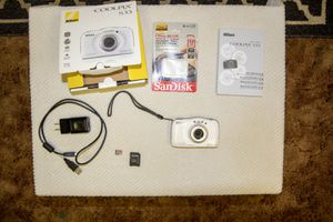 Digital camera Coolpix S33 waterproof with sd card for Sale in Grand Rapids, MI