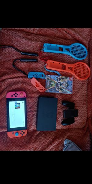 Nintendo switch with dock and all cable/with my other console joy con for Sale in Orlando, FL