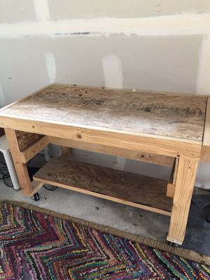 work bench and radiant space heater for Sale in Denver, CO
