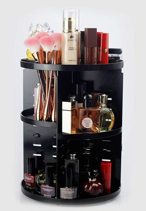 Large 360 Degree Rotating Adjustable Acrylic Cosmetic Storage,Makeup Organizer for Sale in Arlington, TX