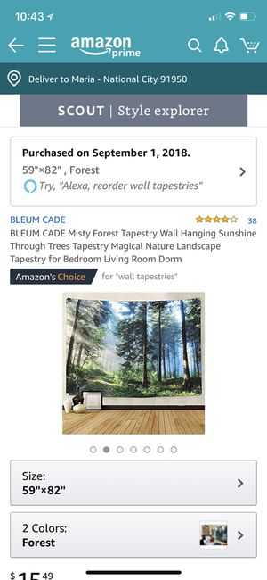 Woods tapestry for Sale in San Diego, CA