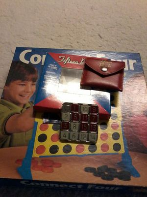 2 ORIGINAL CLASSIC GAMES CONNECT 4 AND FIFTEEN PUZZLE for Sale in Brick, NJ