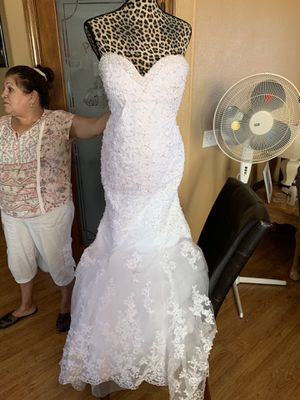 Lace Mermaid White Style Wedding Dress for Sale in Menifee, CA