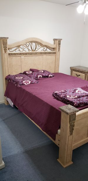 Queen Bed Frame and Dressers for Sale in Stockton, CA