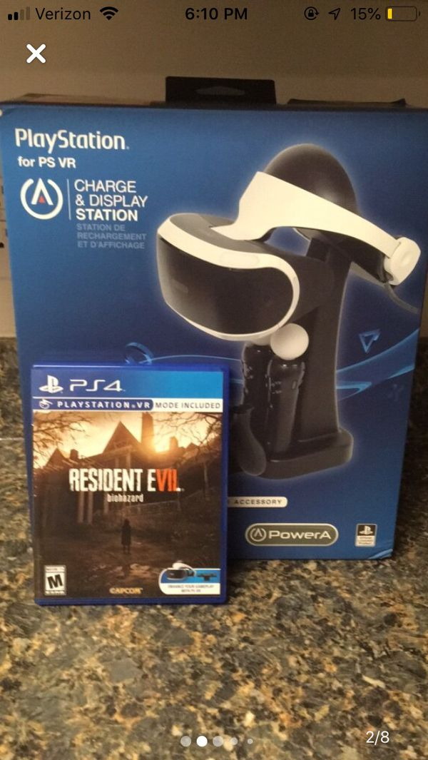 PS4 Headset, Charging Stand, Camera, Motion Controllers, and RE7