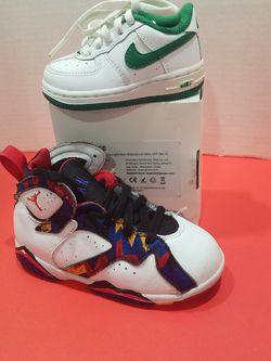 kids jordan nike size 9c &4c for Sale in City of Industry,  CA