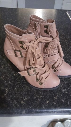 Pink wedge boots for Sale in Houston, TX