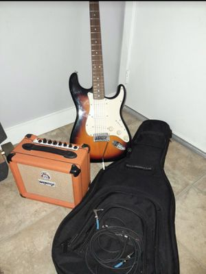 Orange Crush Amp Fender Starcaster Combo for Sale in Laguna Hills, CA