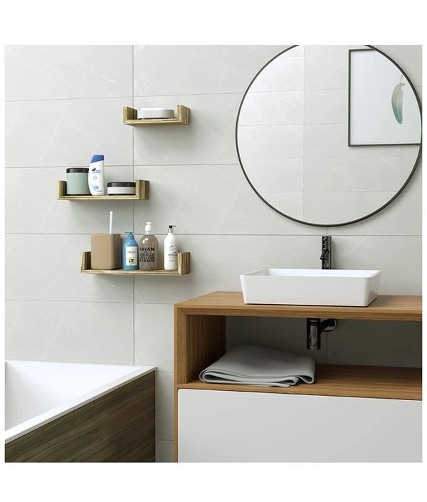 Bathroom, kitchen, living decor Floating Shelves Wall Mounted, Wood Wall Shelves,