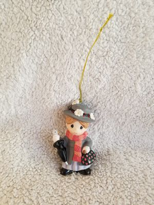 Precious Moments Autographed Mary Poppins Porcelain Bisque Ornament for Sale in Kissimmee, FL
