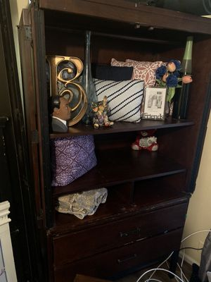 Wardrobe w/Clothing bar and two bottom drawers for Sale in Norfolk, VA