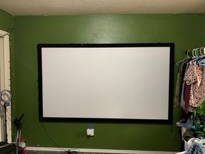 """100"""" projector screen and 1080P 4k projector with mount for Sale in West Linn, OR"""
