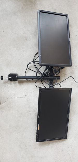 Dual monitor stand with monitors for Sale in San Diego, CA